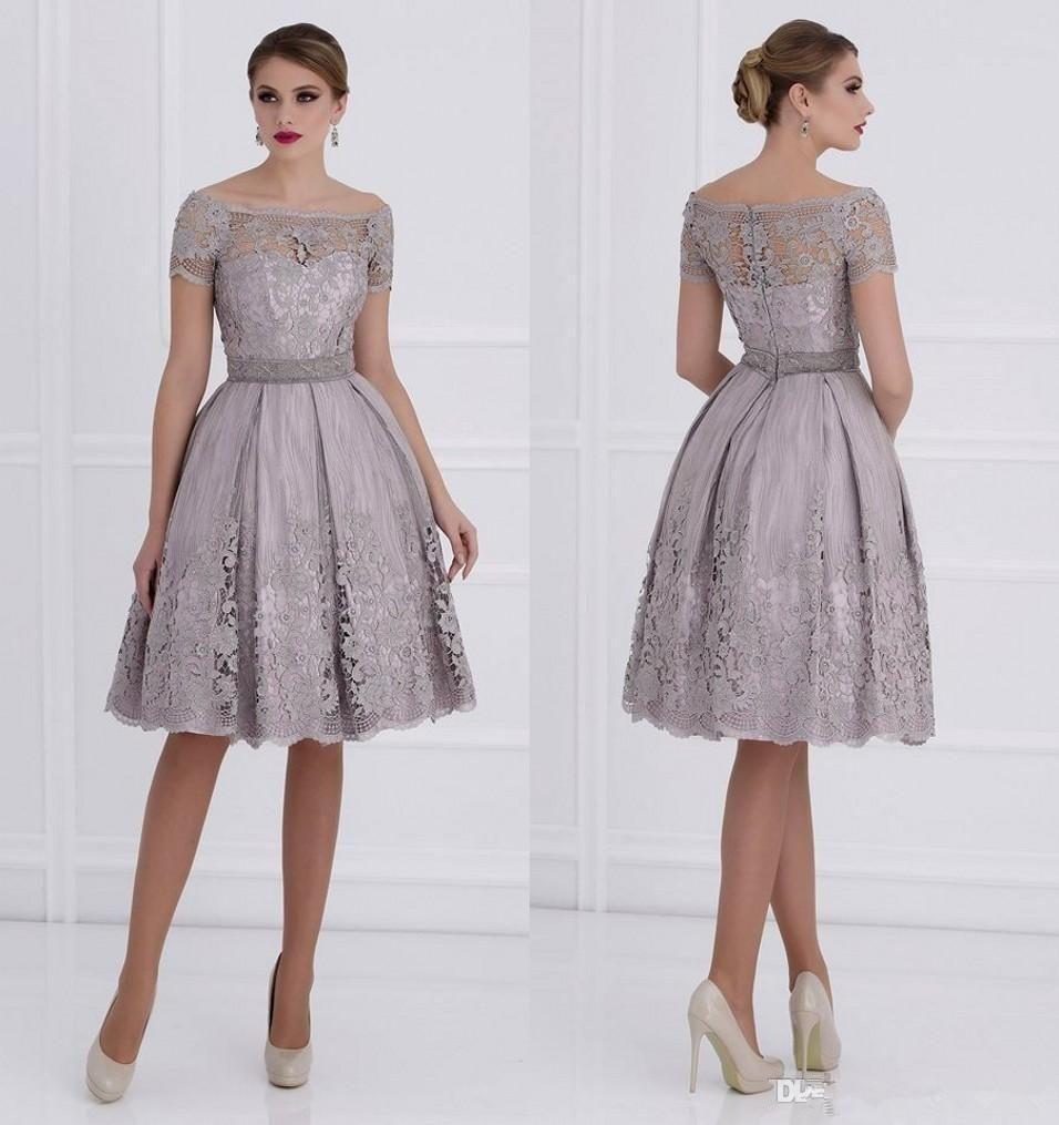 Großhandel 2015 Lilac Off Schulter Mutter Der Braut Kleider Lace ...