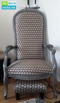 restauration d 39 un fauteuil de type voltaire sewing pinterest. Black Bedroom Furniture Sets. Home Design Ideas