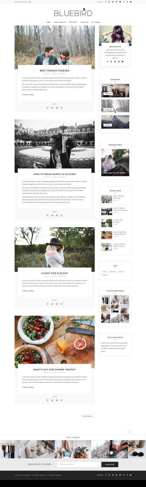 WordPress Theme - Wordpress Vorlage-Feminine Wordpress Thema ...