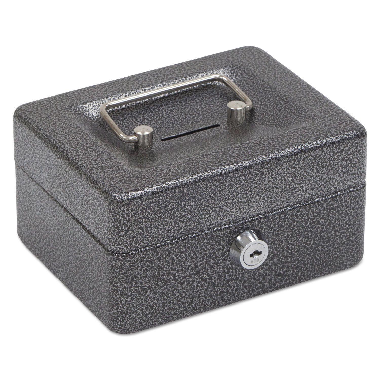 FireKing Hercules Cash Box Keylock Coin and Stamp 6-inch x 4 5/8-inch x 3-inch Charcoal