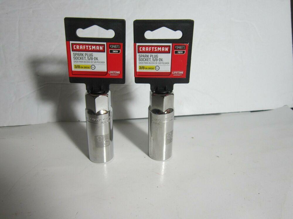 2 X Craftsman 5 8 Spark Plug Socket 3 8 Drive 34671 Craftsman In 2020 Plug Socket Spark Plug Plugs