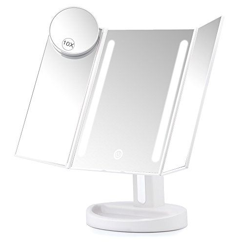 Herwiss Lighted Vanity Makeup Mirror With 10x Magnifying