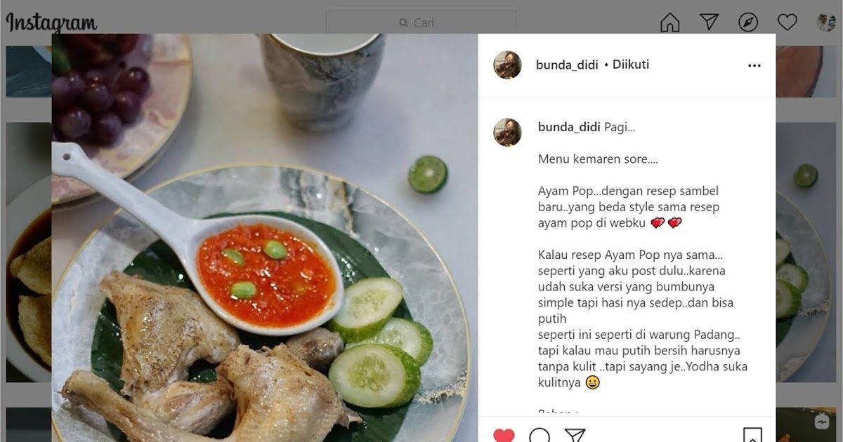 Blog Diah Didi Berisi Resep Masakan Praktis Yang Mudah Dipraktekkan Di Rumah Di 2020 Masakan Resep Ayam Resep Masakan