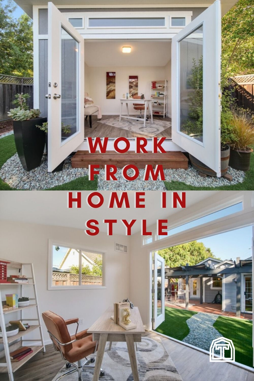 Working From Home In Style Tuff Shed In 2020 Backyard Shed Shed Homes Tuff Shed