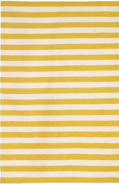 Nice Draper Stripe Woven Rug Citrine U0026 Cream Pictures Gallery