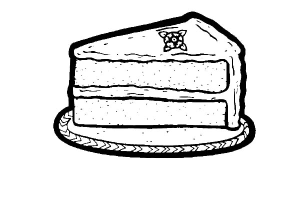 One Slice Of Chocolate Cake Coloring Pages Netart Cake Slice Coloring Pages Blueberry Cake