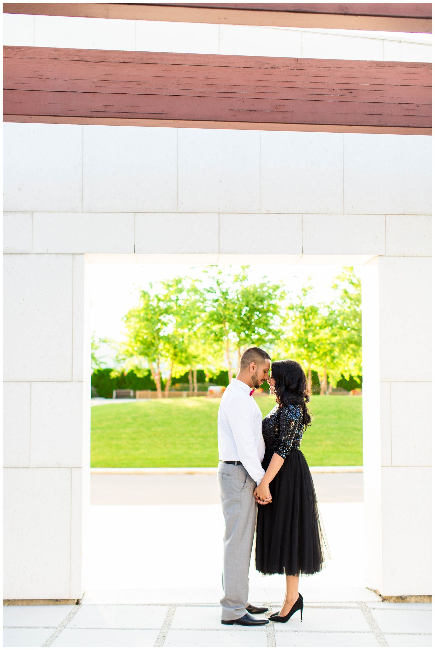 MODERN AGA KHAN MUSEUM ENGAGEMENT, BLACK, WHITE, AND RED THEME WITH ...