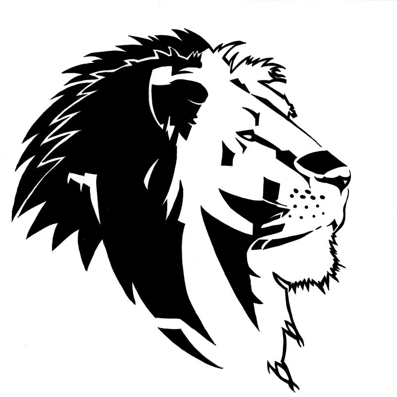 Leone Di Profilo Disegno.Tribal Lion By Rurouniben Grafici