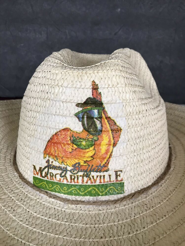 c06561fac Details about Parrot Party Straw Hat Parrot Head Cowboy Hat Straw ...