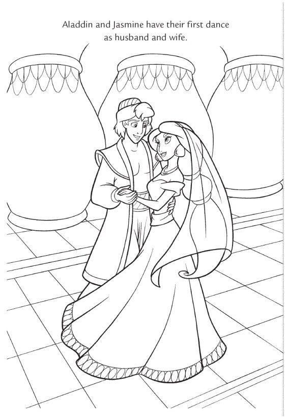 disney wedding coloring pages - photo#9
