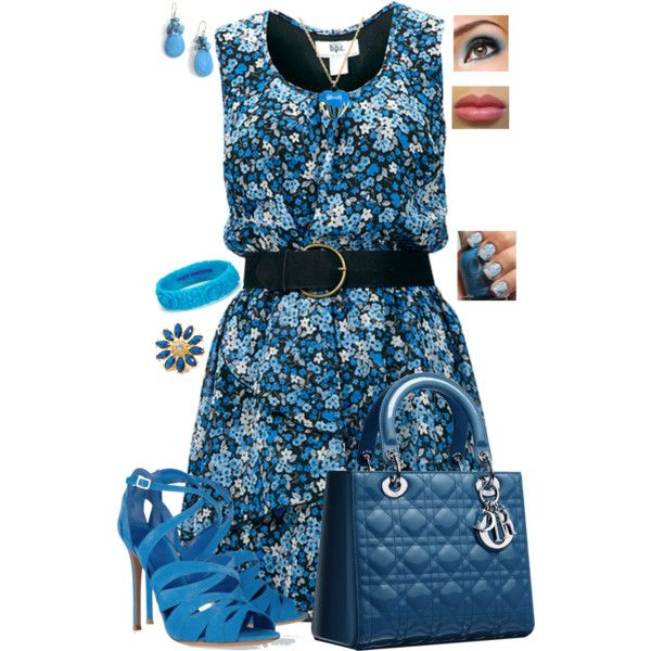 Blue Dior Bag, created by whitney-salyer on Polyvore