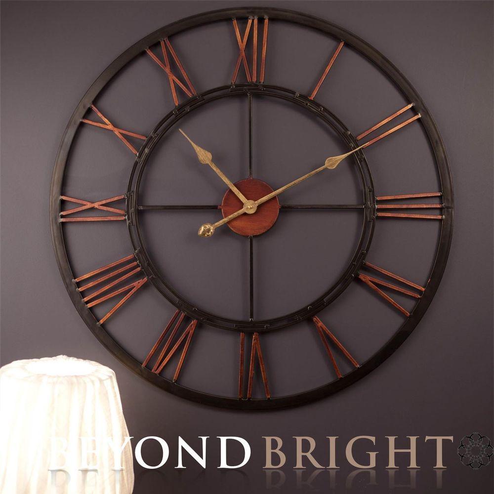 X Large Metal Kali Wrought Iron Wall Clock Vintage French Provincial Hampton New Wall Clock Vintage Wall Clock Large Wall Clock