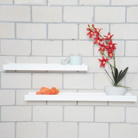 Floating Shelves With Lip Entrancing Howards Storage World  White Floating Shelf With Lip  60Cm Decorating Design