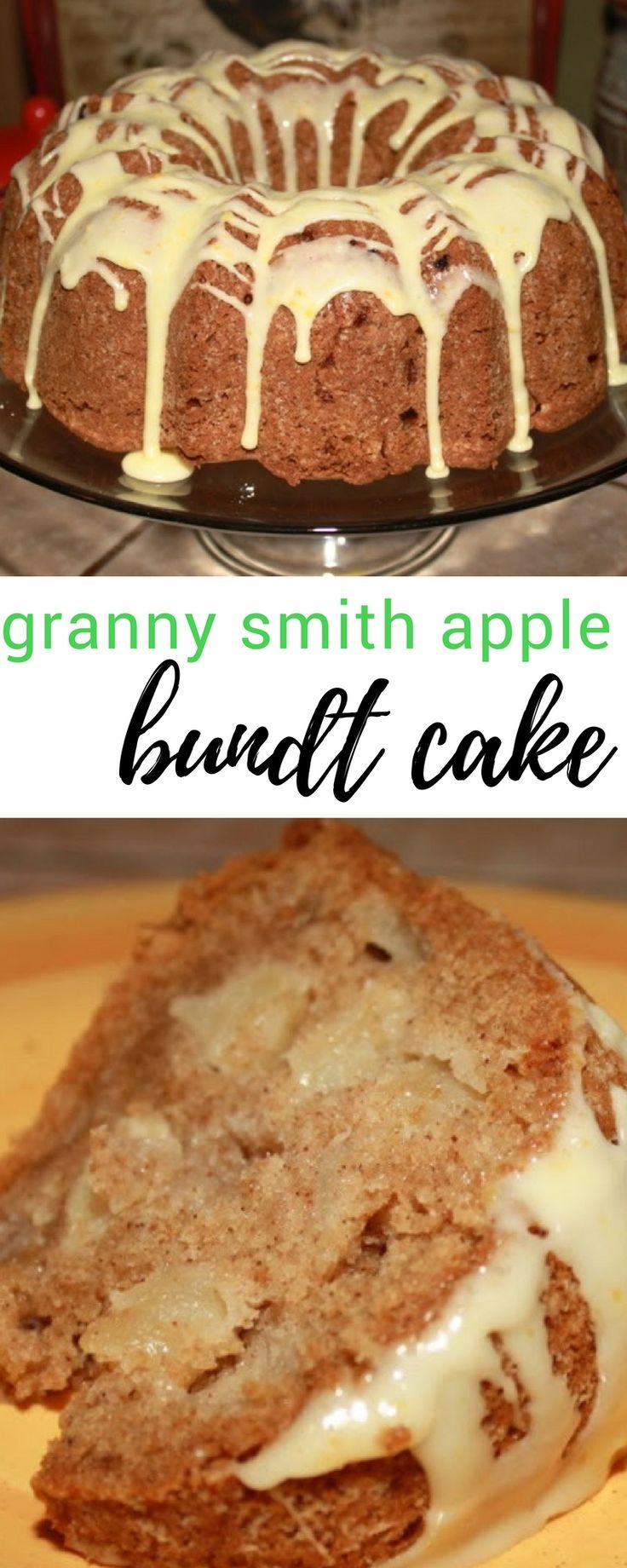 The best fall dessert recipe! We love this granny smith apple bundt cake!