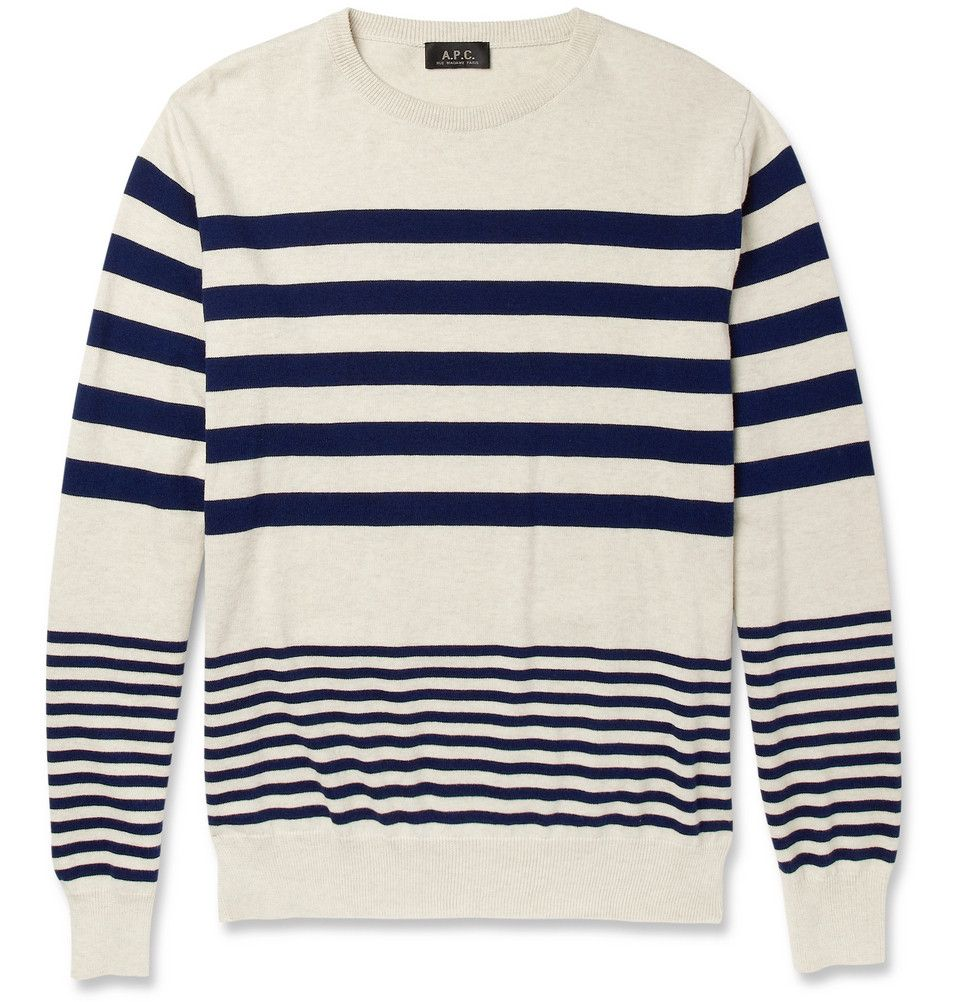 A.P.C. Striped Cotton Sweater | MR PORTER | Shopaholics Anon ...