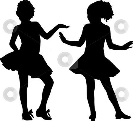 Little Girl Silhouette Clip Art Silhouette Happy Girls Stock Vector Clipart Silhouette Happy Girls Kinderen Dansen Meisjes Silhouet Dansen