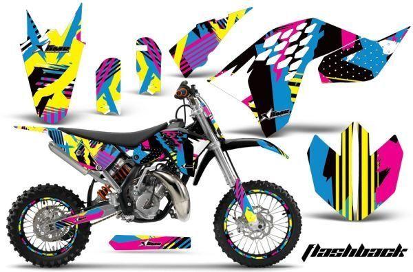 Amr Flashback Custom Dirt Bike Graphics Kit 2002 12 Ktm 65 Sx