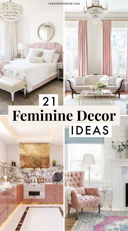 21 Gorgeous Feminine Home Decor Ideas Feminine Living Room Feminine Decor Chic Living Room Furniture