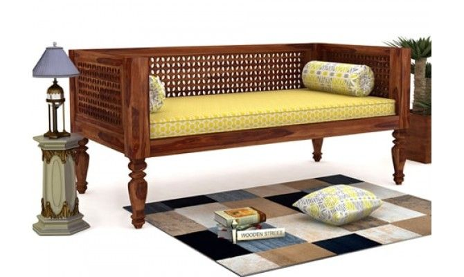 Buy Angelica Divan Teak Finish Online In India Wooden Street