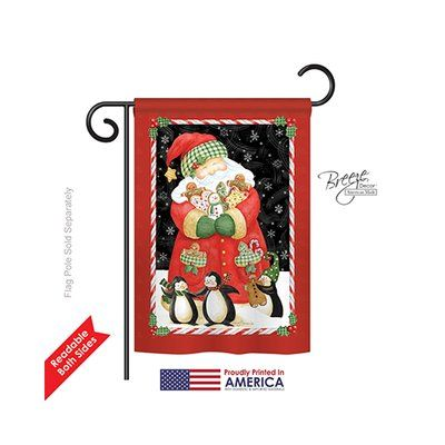 """TwoGroupFlagCo Santa and Cookies 2-Sided Vertical Flag Size: 40"""" H x 28"""" W"""