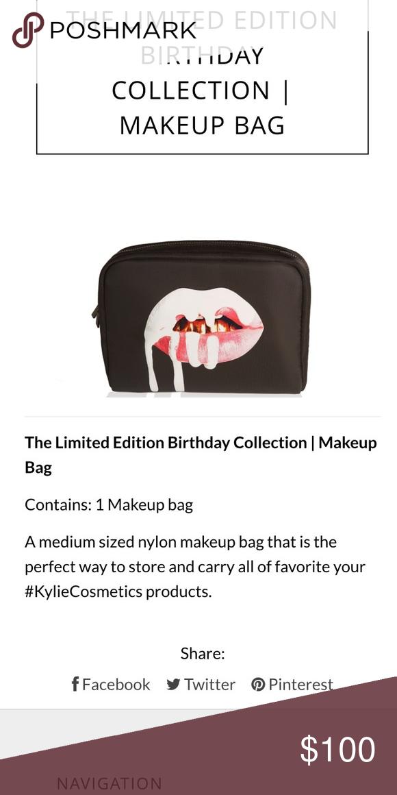 Kylie Jenner makeup bag birthday edition! NWT | Jenner makeup, 19 ...