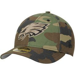 71a69e4d306 Men s New Era Camo Philadelphia Eagles Woodland Low Profile 59FIFTY Fitted  Hat