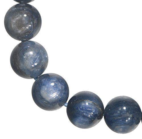 UGems Kyanite 10mm Round Beads Strand Assorted Matrix