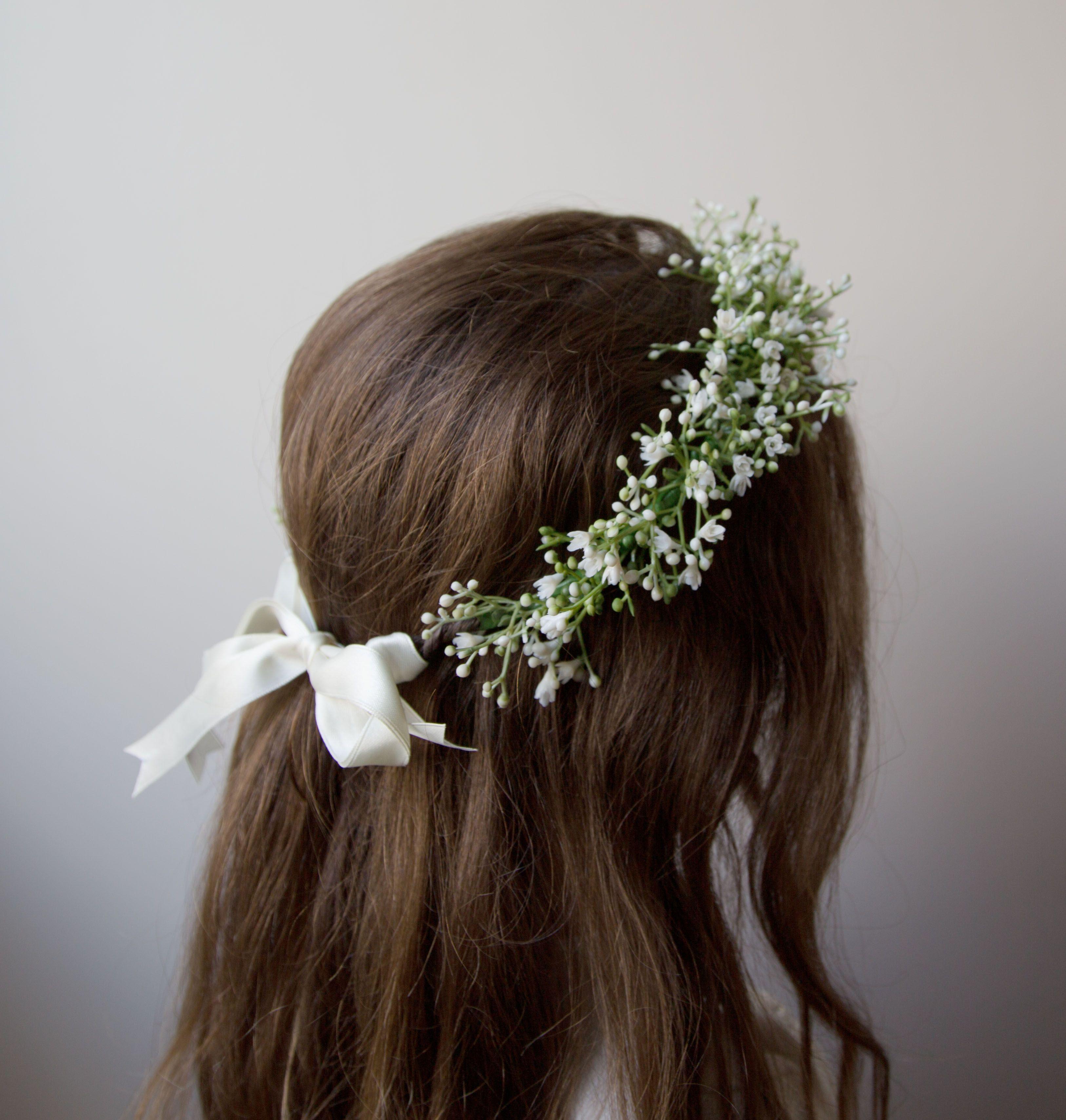 Gypsophila Babies Breath Flower Crown Fauxevermore Baby Breath Flower Crown Bridal Flower Crown Flower Crown