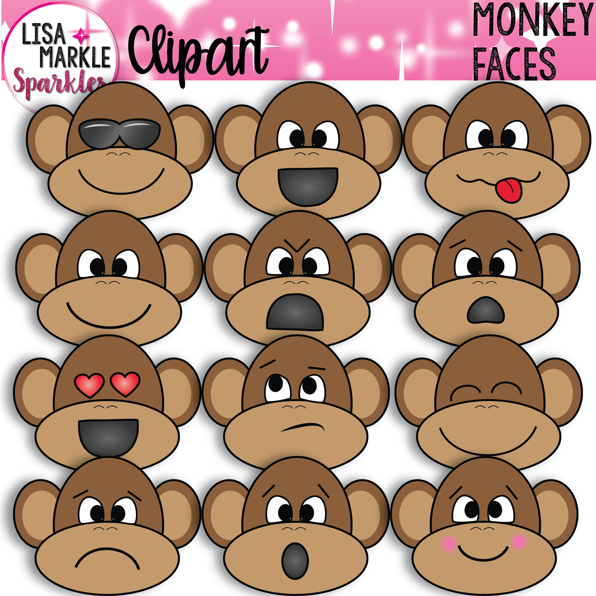 Monkey Clipart With Emoji Faces With Images