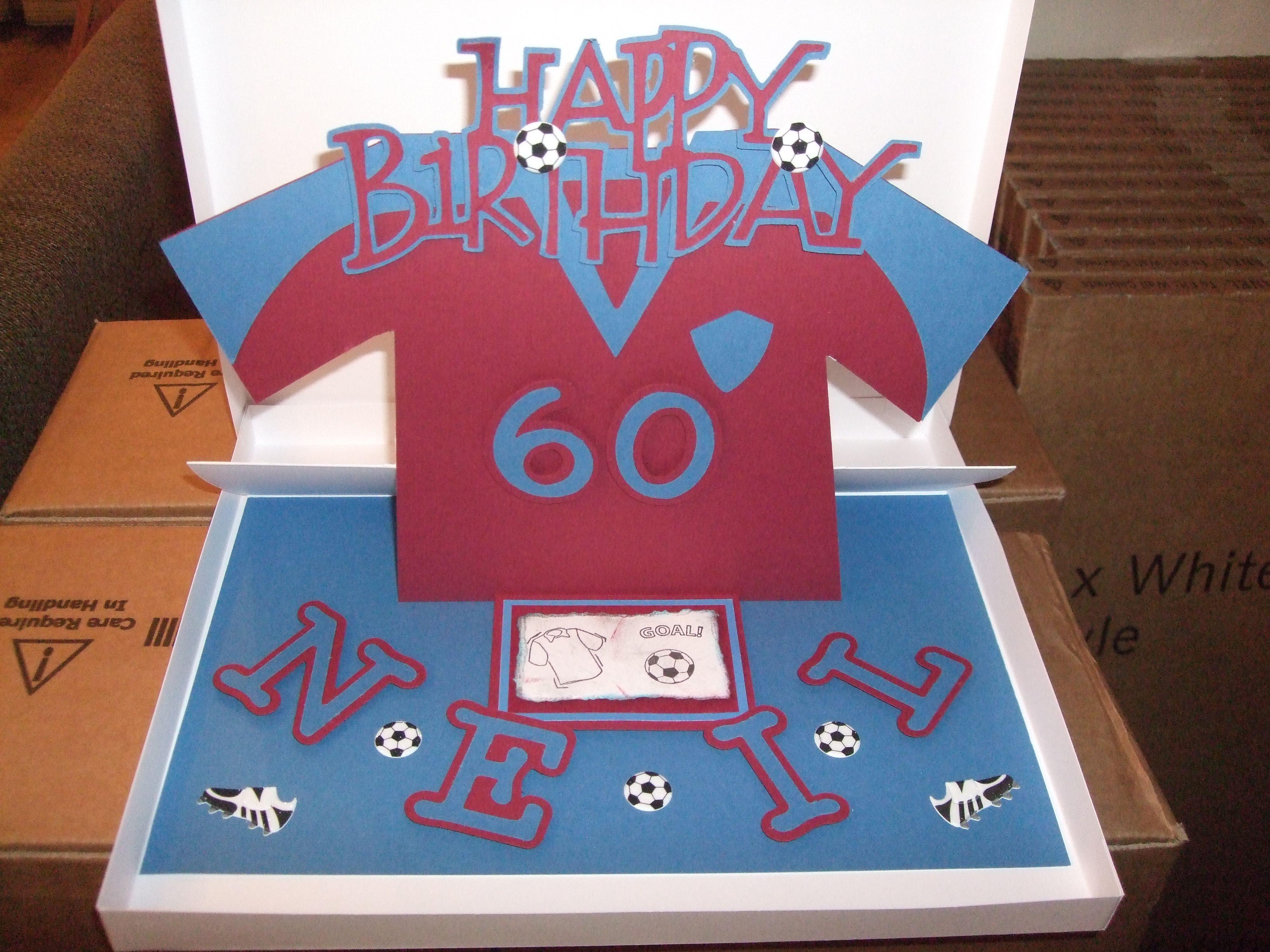 West Ham Inspired Birthday Card Birthday Cards Cards Birthday