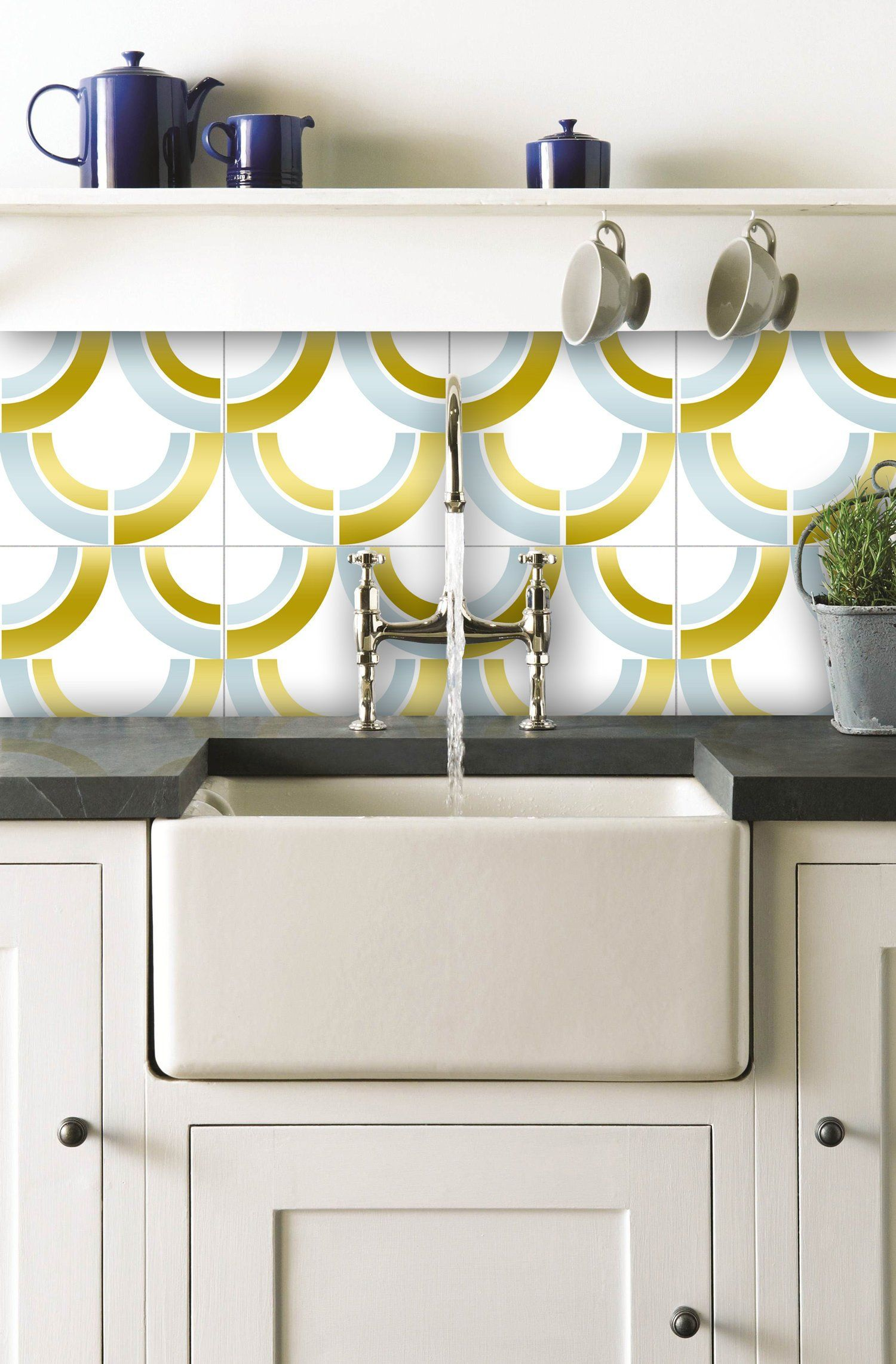 Faux Brass And Marble Tile Stickers Tile Decals For Kitchen Bathroom Wall Or Backsplash Waterproof And Re Diy Kitchen Backsplash Backsplash Beach Wall Decor