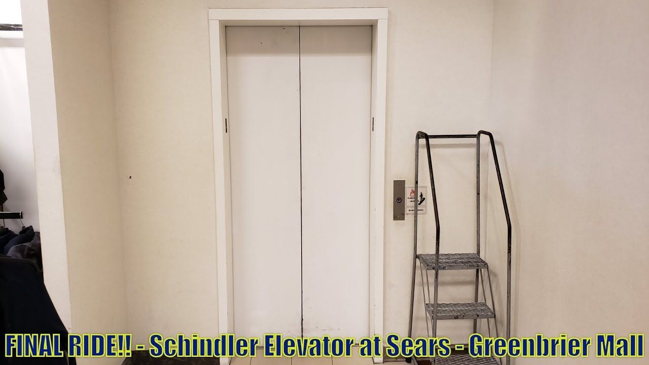 FINAL RIDE!! - Schindler Elevator at Sears - Greenbrier Mall