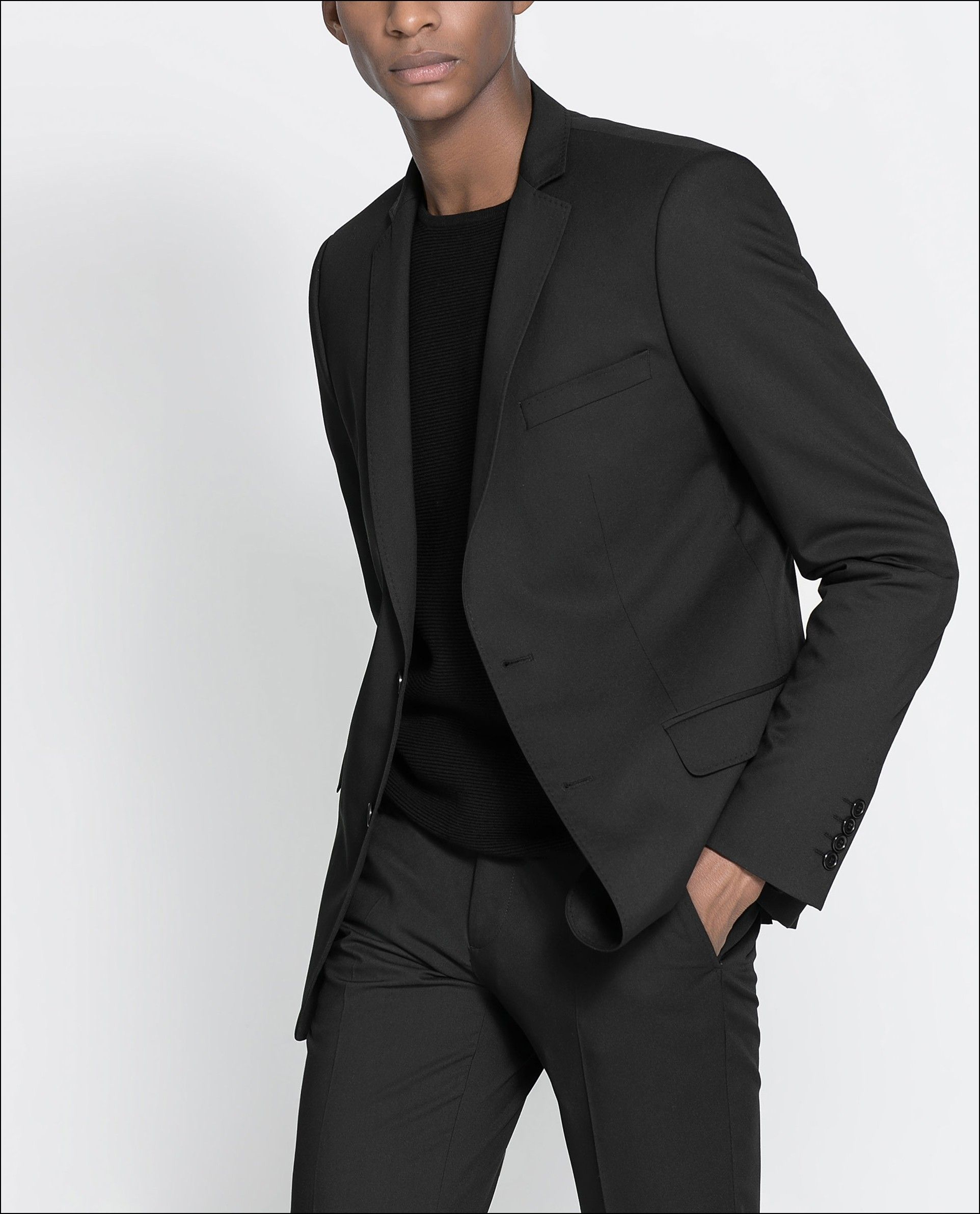 Black t shirt with suit - Grey Suit With Black T Shirt Google Search