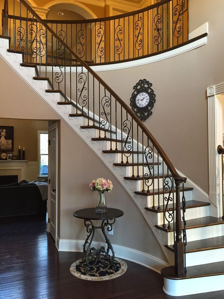 Best Pin By Tracy Burton On Hallway Iron Stair Railing Iron 400 x 300