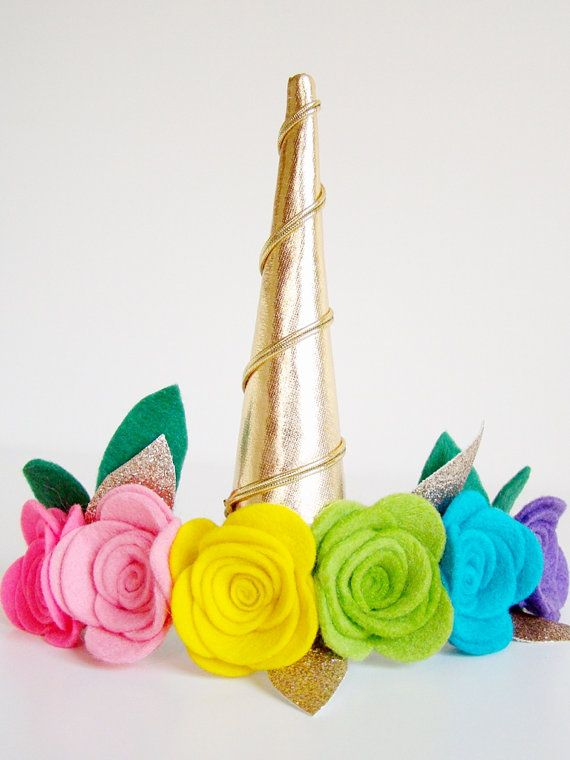 Gold Unicorn Cosplay Headband Unicorn Flower by VictoriasClass ... b37a04521c6