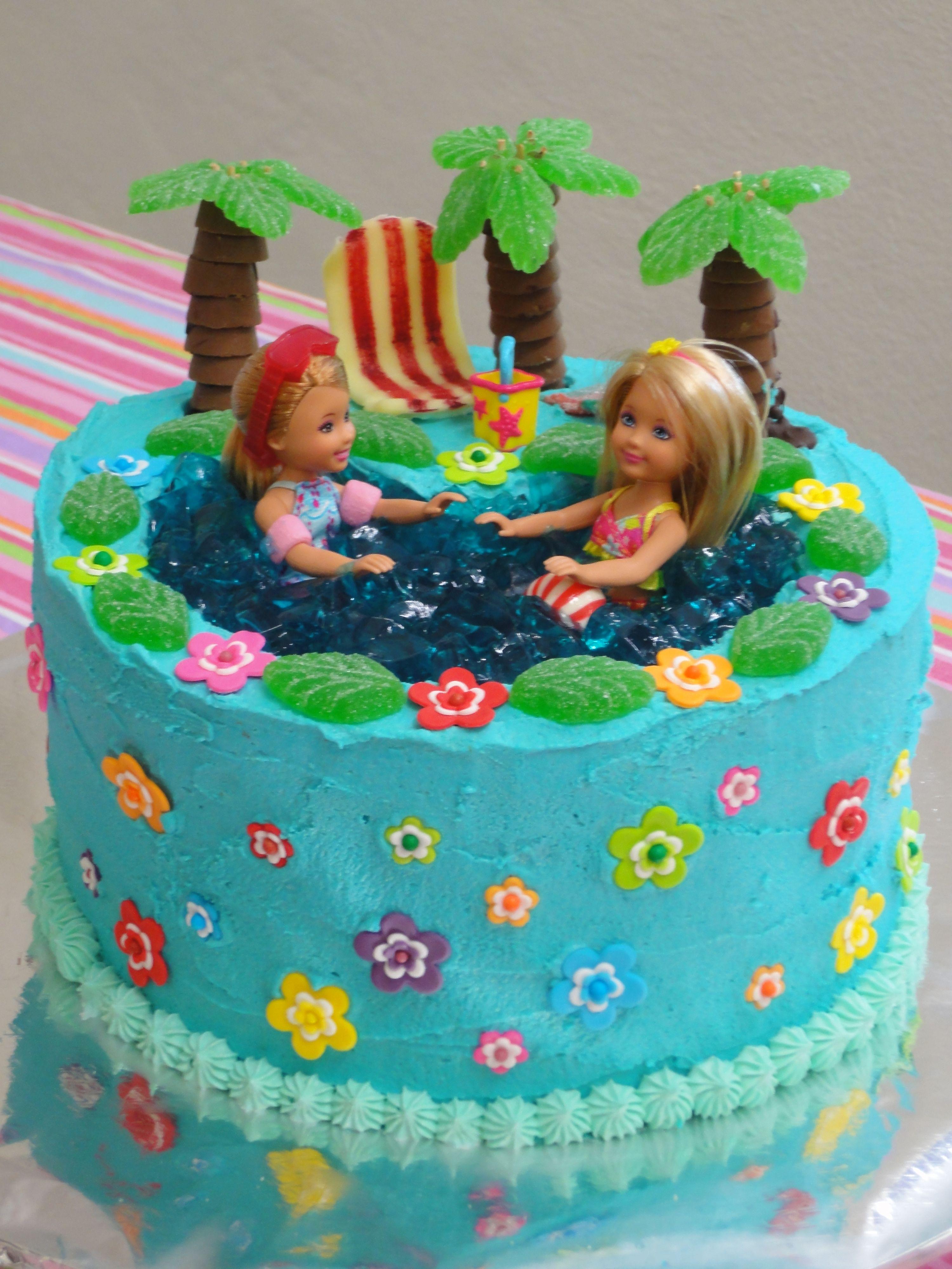 Barbie Pool Party Birthday Cake Made By Me Children 39 S Birthday Cakes Pinterest Birthday