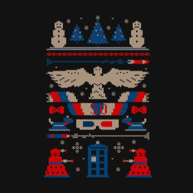 UGLY DOCTOR WHO SWEATER T-Shirt - Doctor Who T-Shirt is $12 today at Once Upon a Tee!