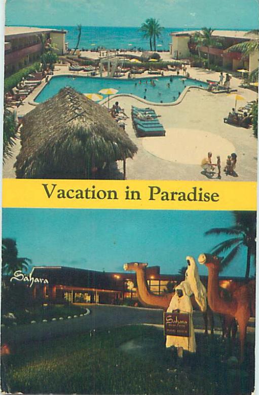 Sahara Resort Hotel Miami Beach Florida 1965