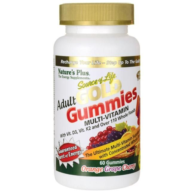 Nature's Plus Source of Life Adult Gold Multi-Vitamin Gummies | 60