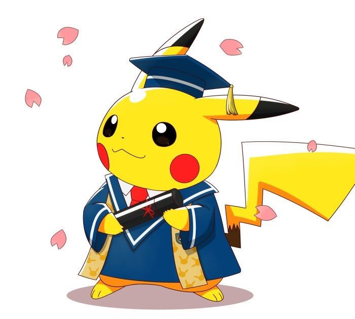 Pikachu graduation. Pokemon mouse