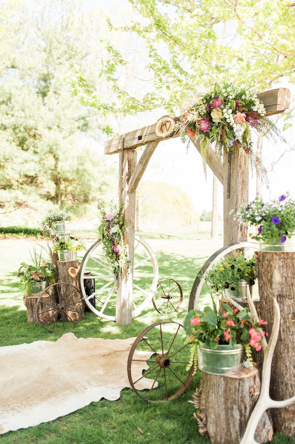 Latest wedding decor ideas  A Classic Rustic Iowa Wedding  Wedding Ceremony Decor  Ideas