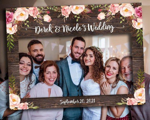 Digital Or Printed Rustic Wedding Decoration Rustic Floral Etsy In 2020 Photo Booth Frame Framed Wedding Photos Wedding Frames
