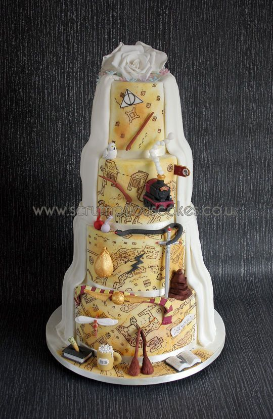 harry potter wedding cake harrypotter harry potter. Black Bedroom Furniture Sets. Home Design Ideas