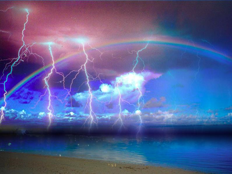 развитием картинки радужные молния сказать, что эта