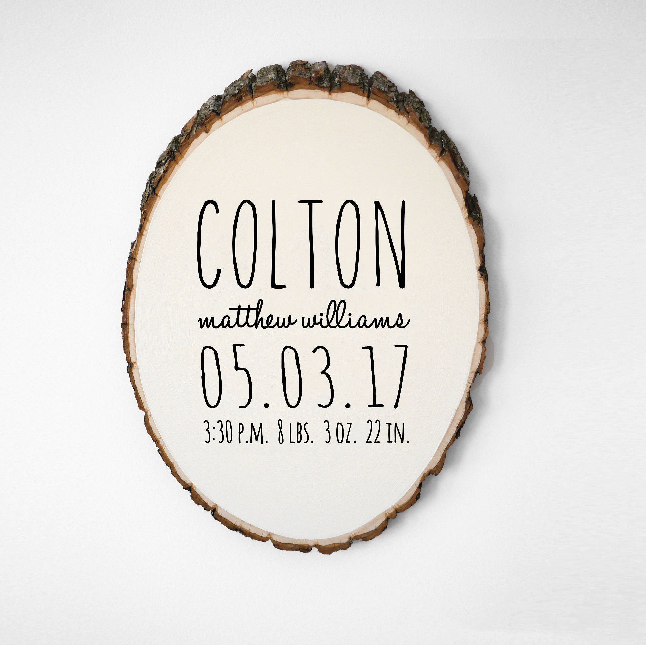 Personalized baby gift baby announcement sign birth stat personalized baby gift baby announcement sign birth stat woodland nursery decor newborn photography prop birth announcement wall art negle Gallery