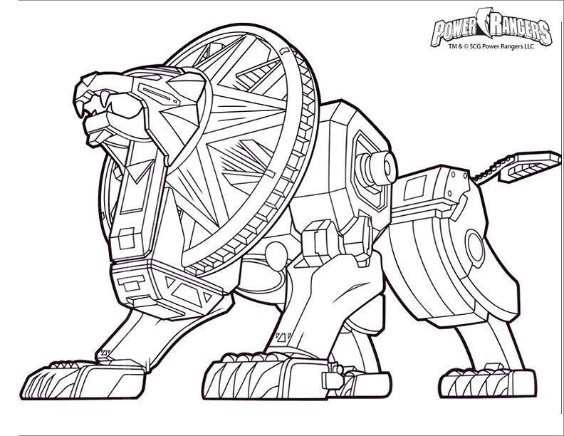 Coloriage Power Rangers Dino Super Charge Power Rangers Coloring
