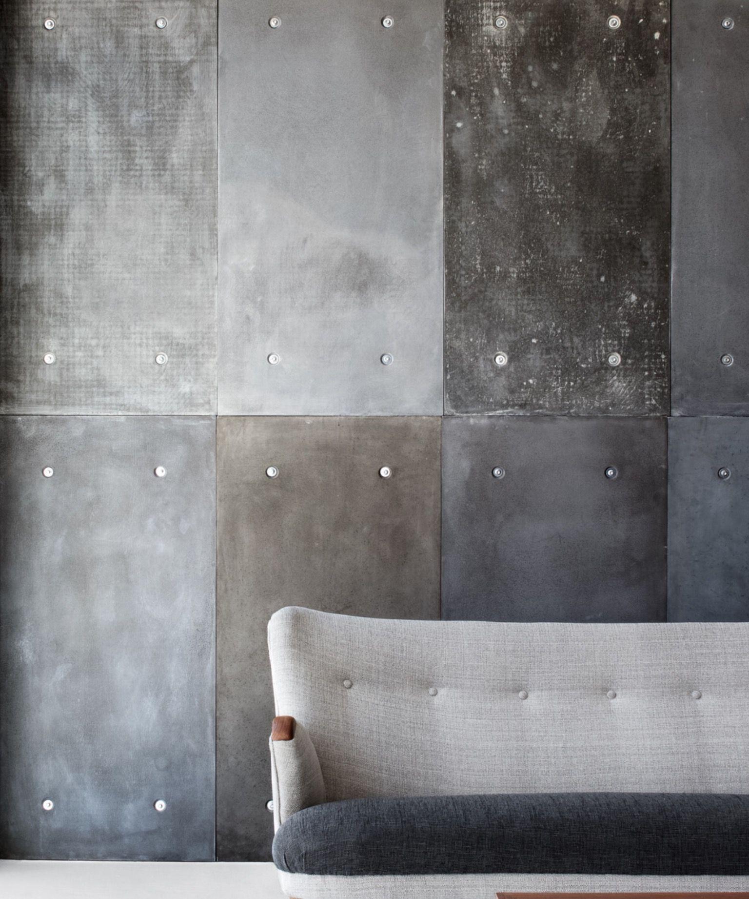 De oude bank betonlook verf voor muren en accessoires interieur pinterest paneling - Verf modern muur ...