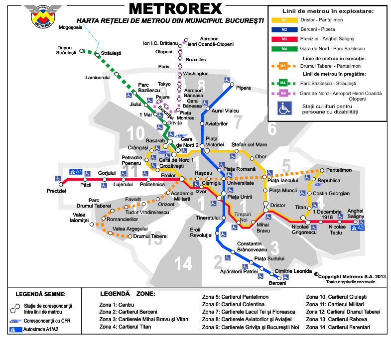 Bucharest Subway Map Subway Map Transit Map Bucharest