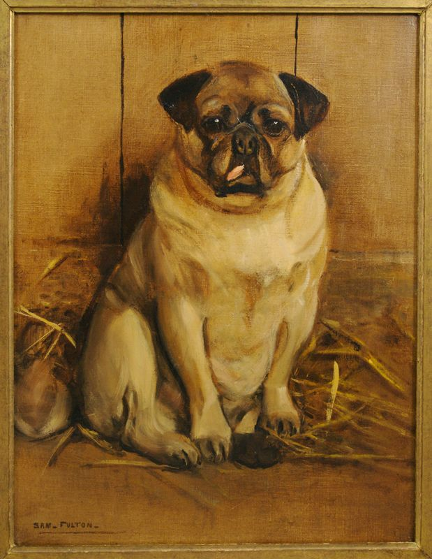 Antique Pug Swarland Hall Pug Breeder And Fancier Sold Paintings