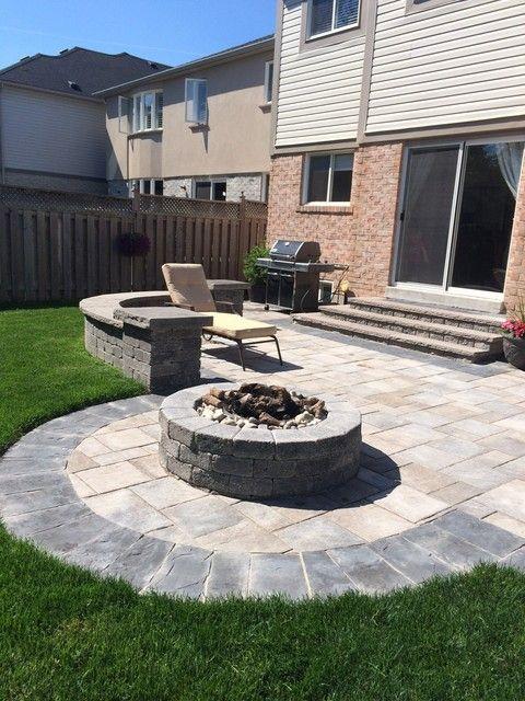 photo of Backyard Patio from a Pro-Loc interlocking and Landscape